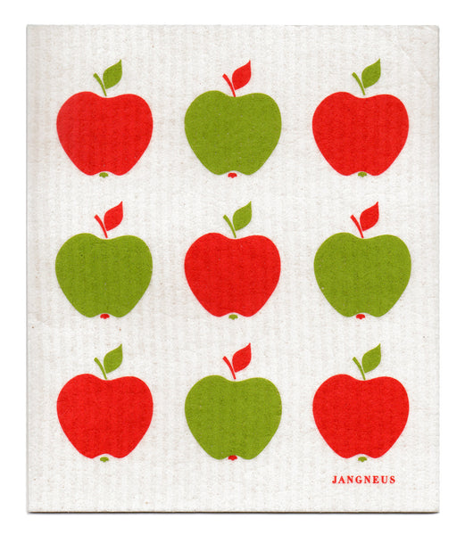 Red & Green - Small Apples Dishcloth
