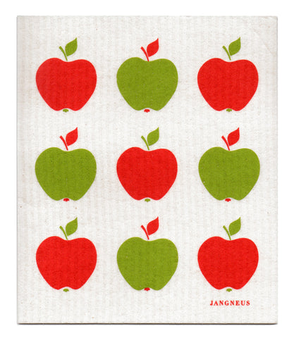 Green & Red - Small Apples Dishcloth