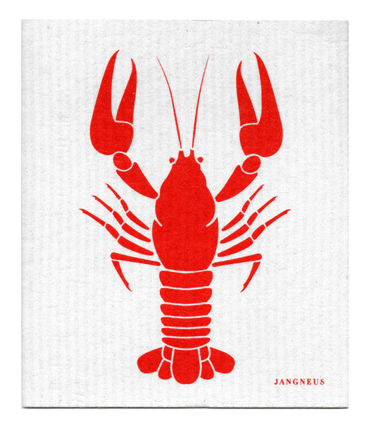 Red - Crayfish Dishcloth
