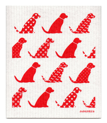Red - Dogs Dishcloth
