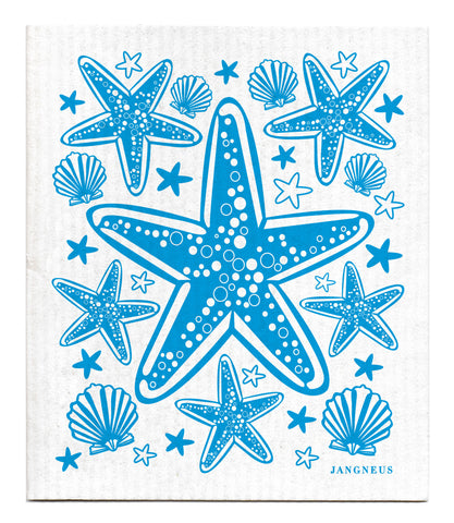 Turquoise - Starfish Dishcloth