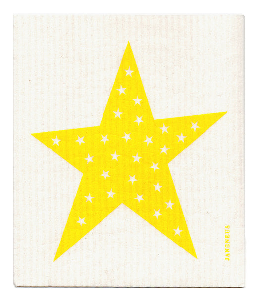 Yellow - Stars Dishcloth