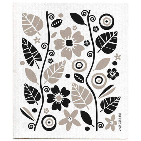 Black & Grey - Garden Dishcloth