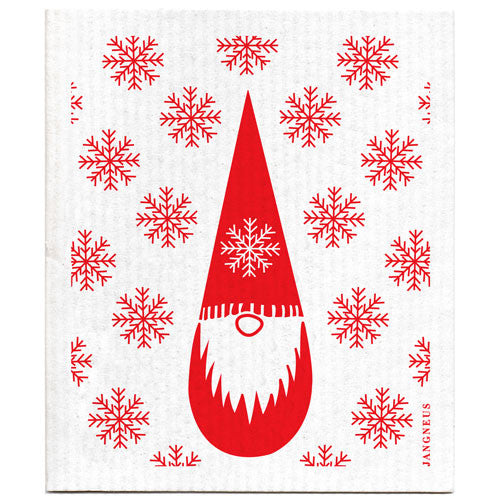 Christmas - Red Tomte Dishcloth