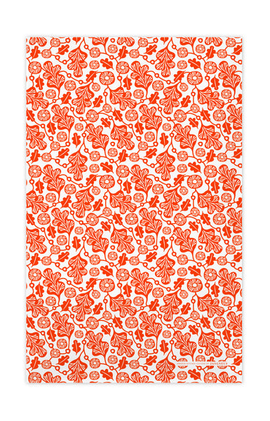Orange - Oak Leaf Tea Towel