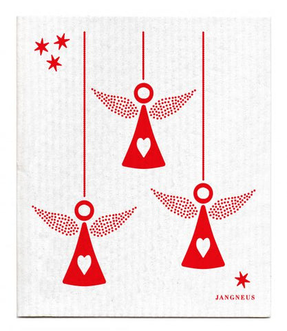 Christmas -  Red Angels Dishcloth