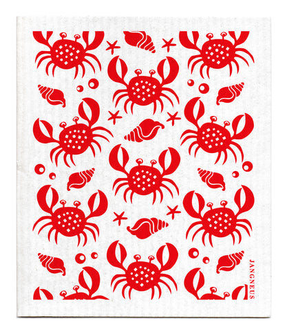 Red - Crabs Dishcloth