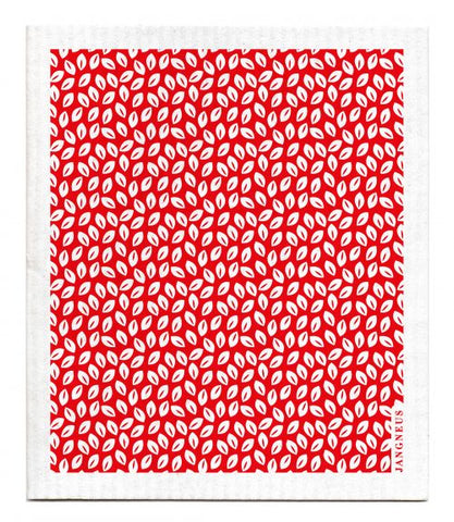 Red - Thyme Leaves Dishcloth