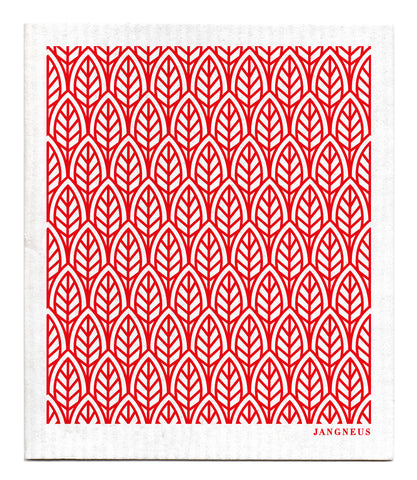Red - New Leaves Dishcloth