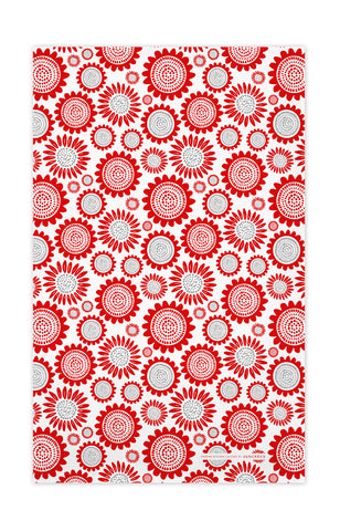 Red - Sunflower Tea Towel
