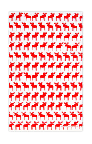 Red - Moose Tea Towel