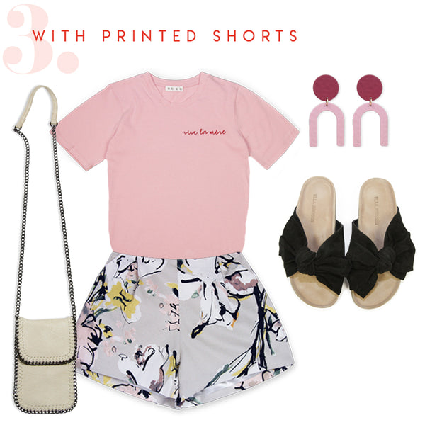 how to wear mother's day tee with shorts