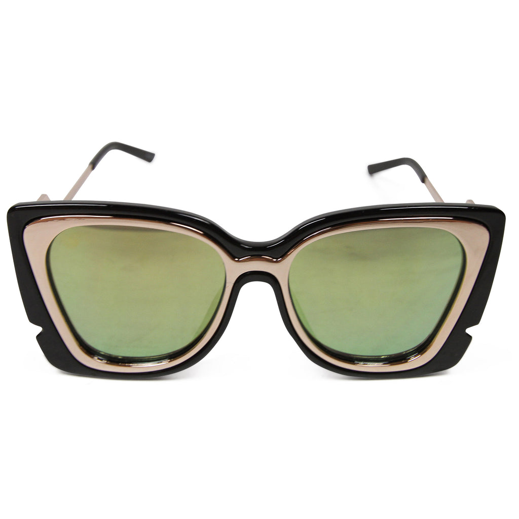 Glamour Mom Shades - Black With Gold