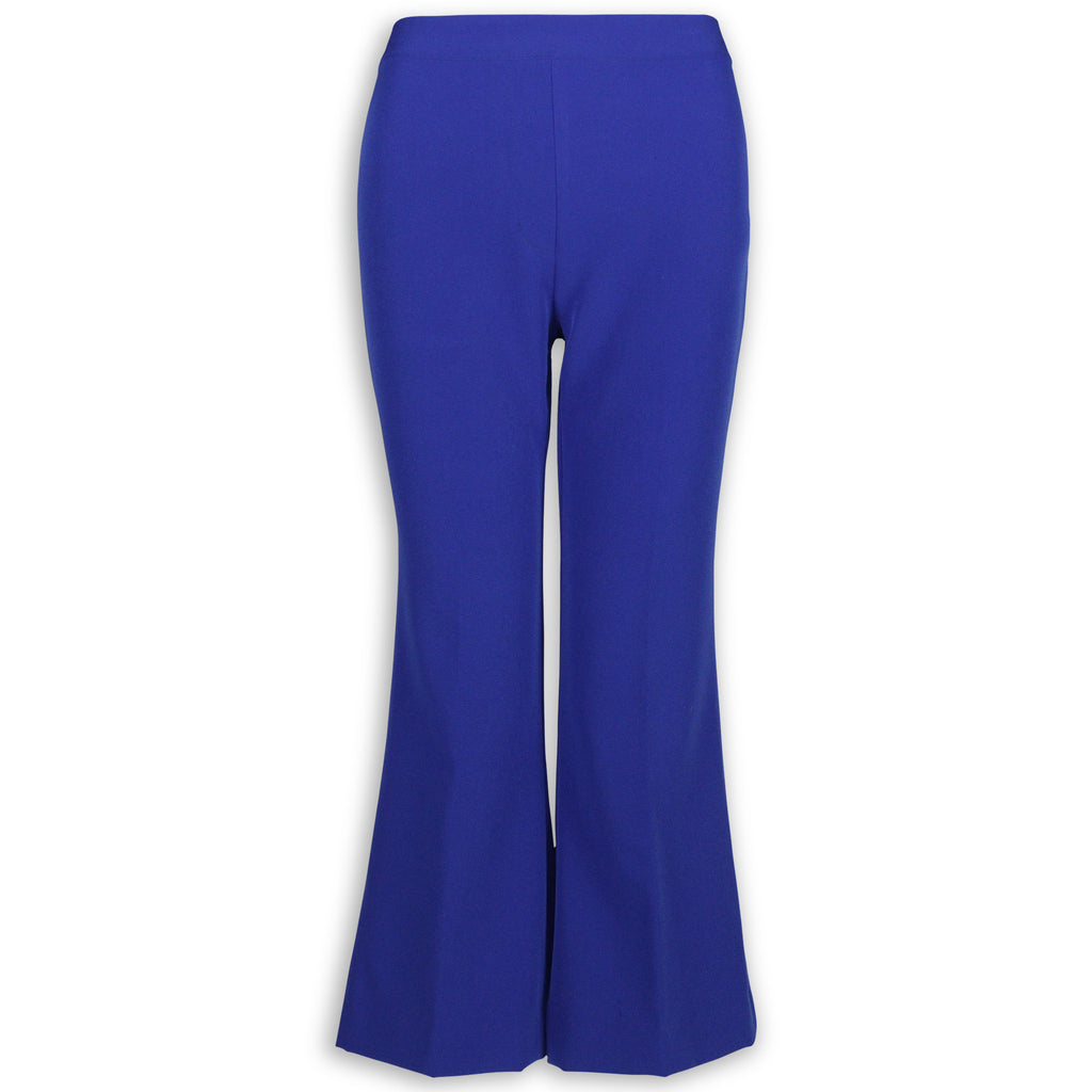 Cropped Flare Trouser - Blue Twill