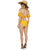 Off The Shoulder Swimsuit - Yellow