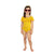 Mini Me Off The Shoulder Swimsuit - Yellow
