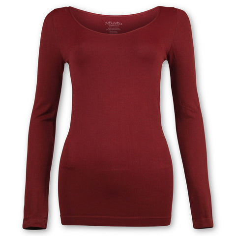 Seamless Round Long Sleeve Top