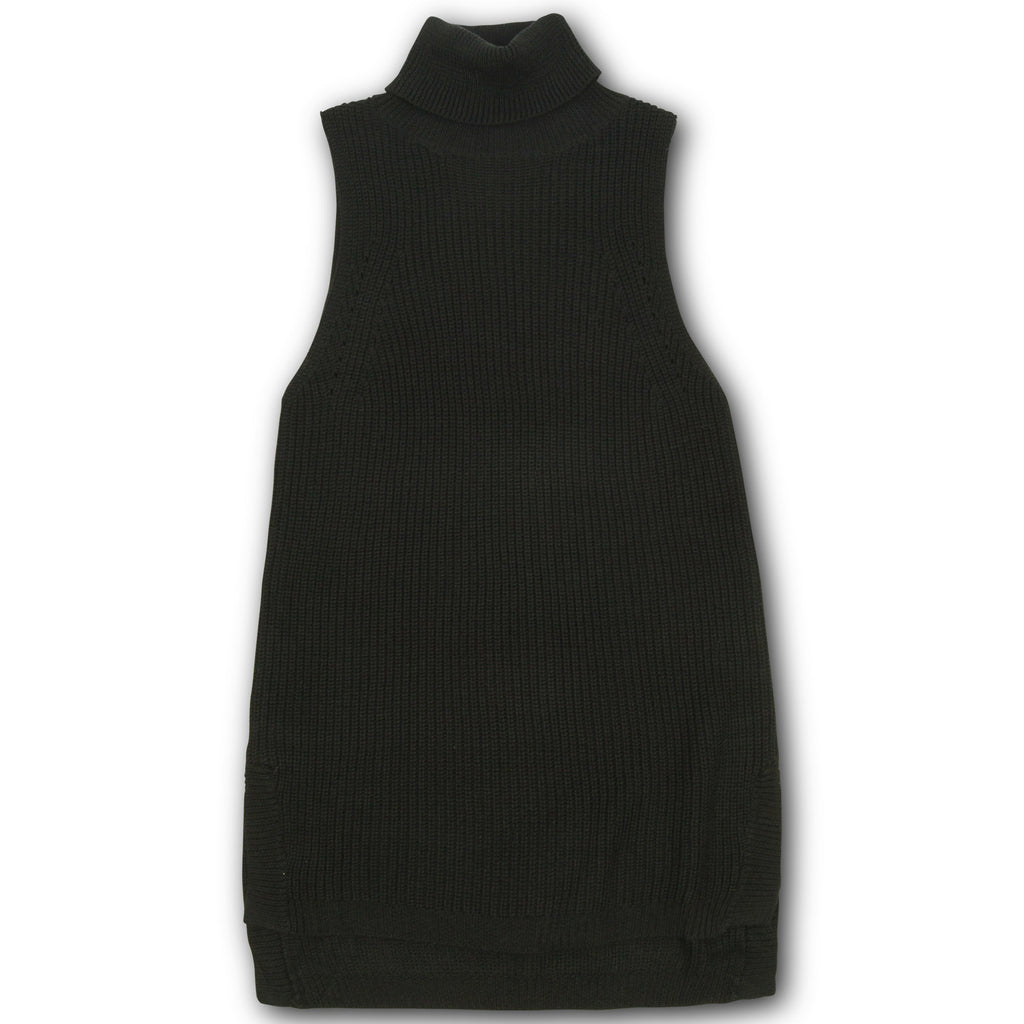 Stevie Sleeveless Turtleneck Top - Black