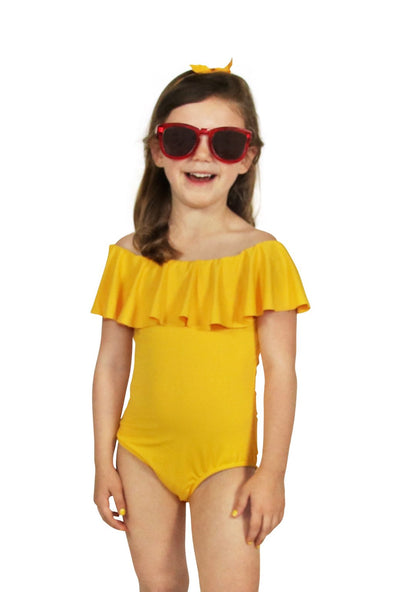 34b4d4b841f11 Mini Me Off The Shoulder Swimsuit - Yellow – BURU