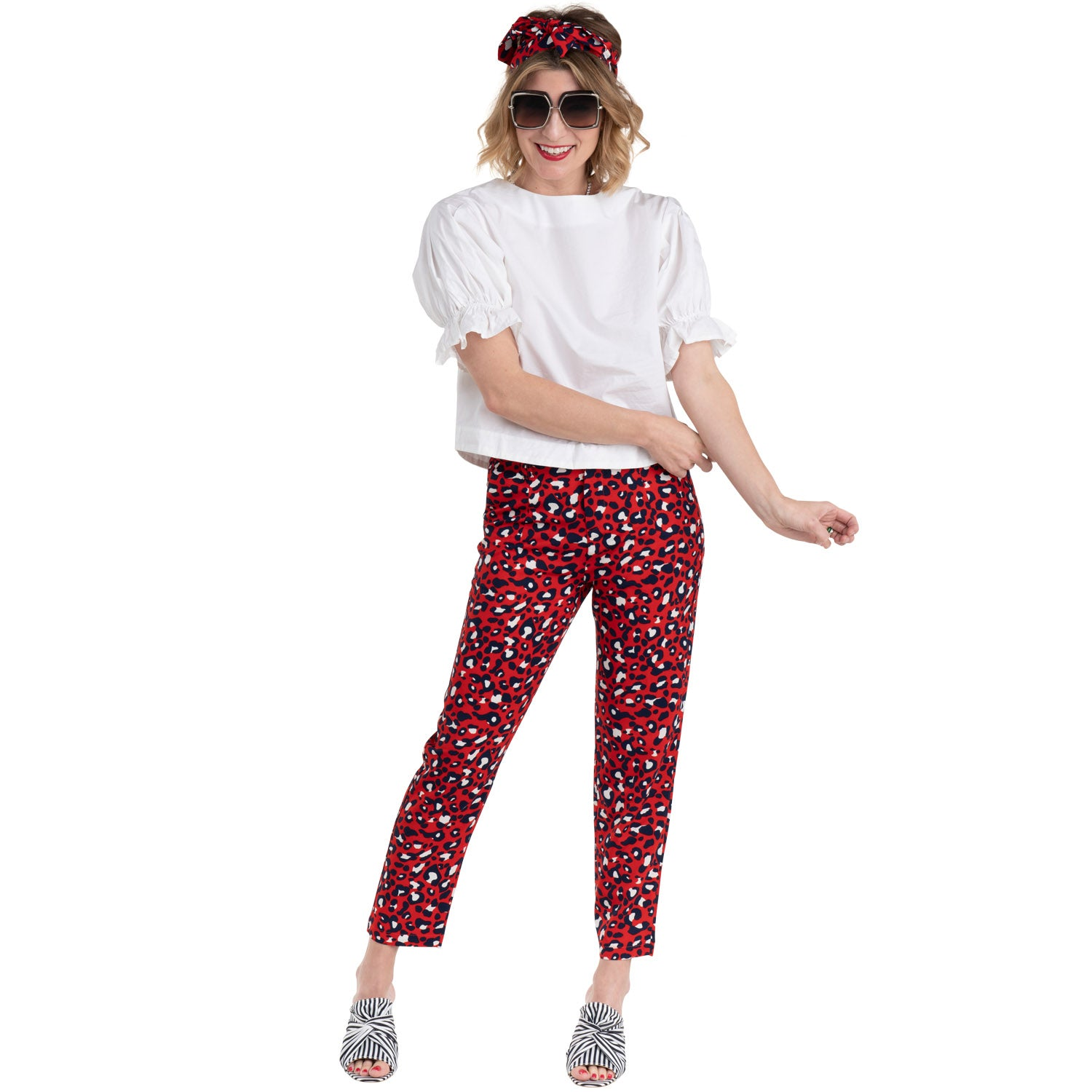 f2db2f2fe47824 ... black tie top tank and samson jeans. paradise puff sleeve top and red  leo printed pants