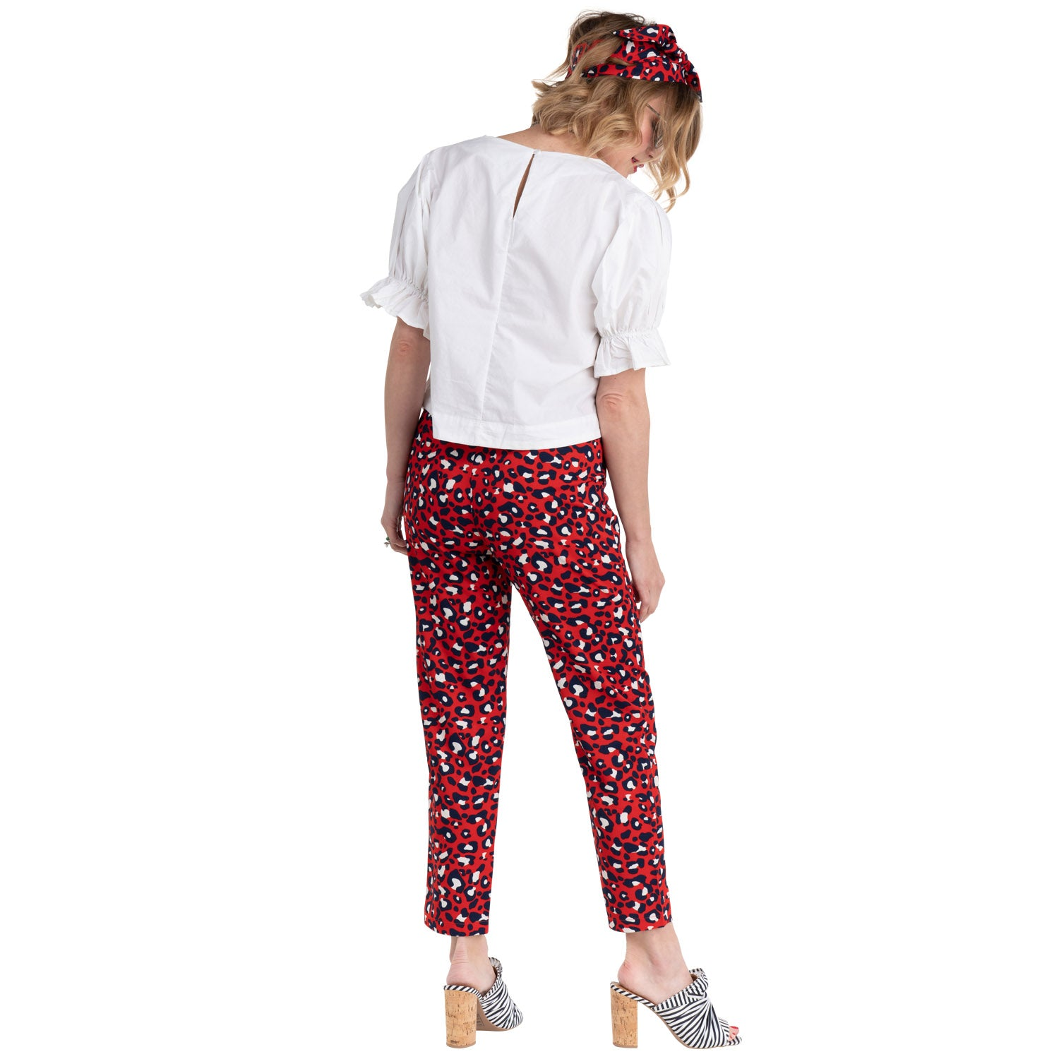 8cc9f70163434e paradise puff sleeve top and red leo printed pants