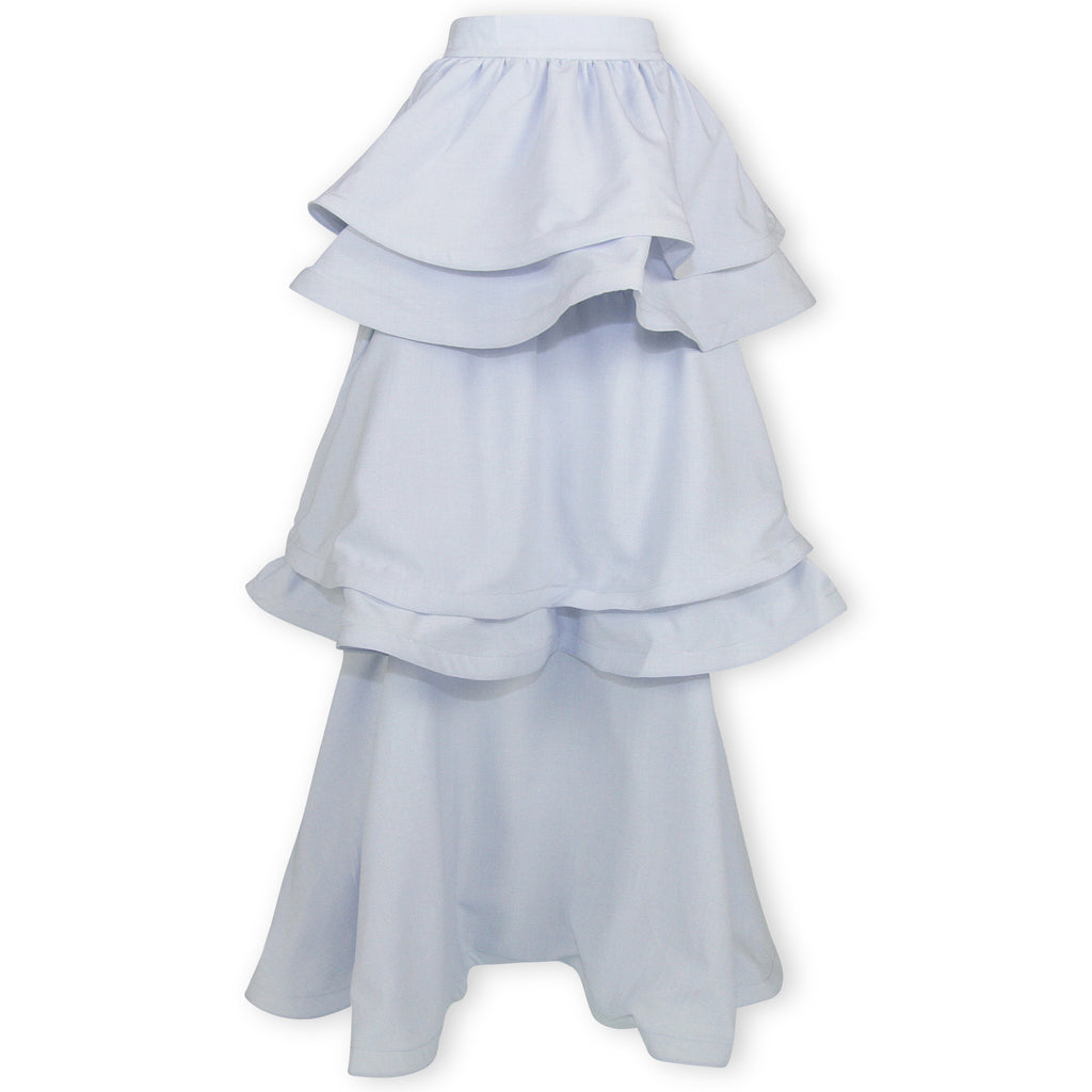 Teagan Tiered Skirt - Blue