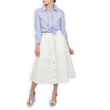 Circle Skirt - White Dot Jacquard