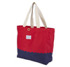 Wave Bottom Beach Bag (Red)