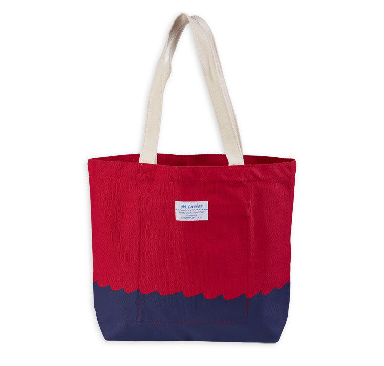 Wave Bottom Tote (Red)