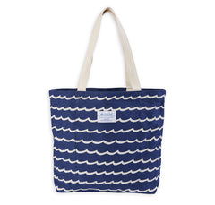 Wave Stripe Tote (Navy)