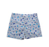 Shapes Board Shorts (Cool Gray)