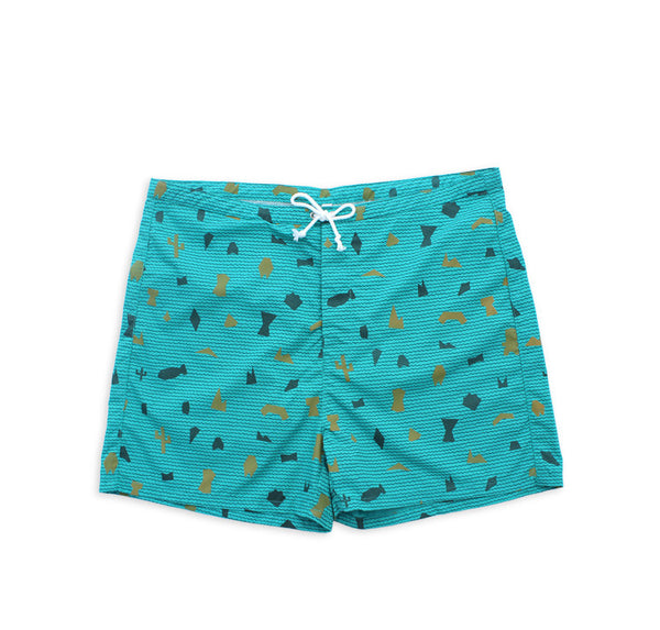 Shapes Board Shorts (Teal)