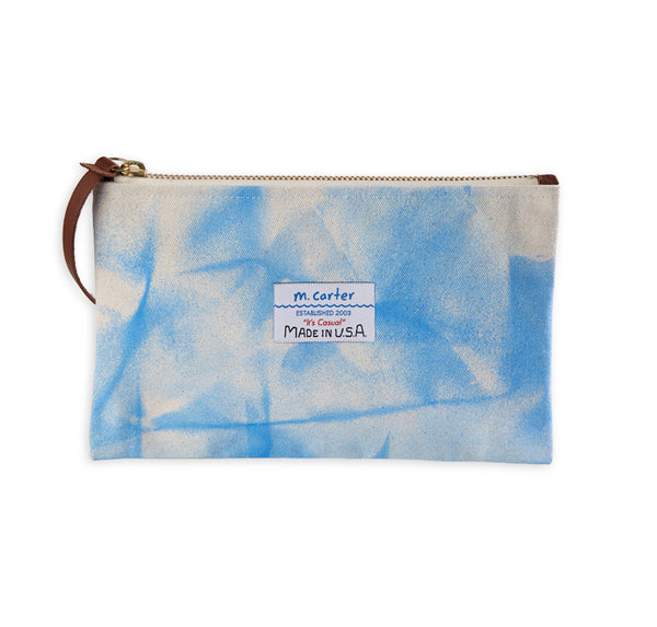 Canvas Clutch Crinkle Blue