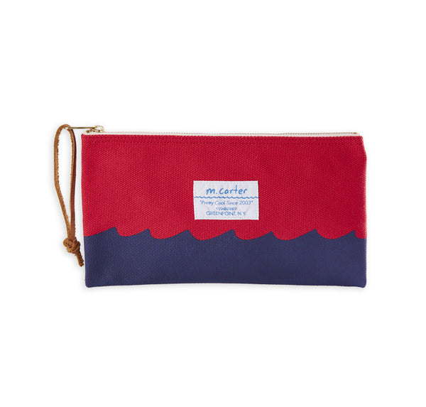 Wave Bottom Pouch (Red)