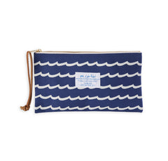 Wave Stripe Pouch (Navy)