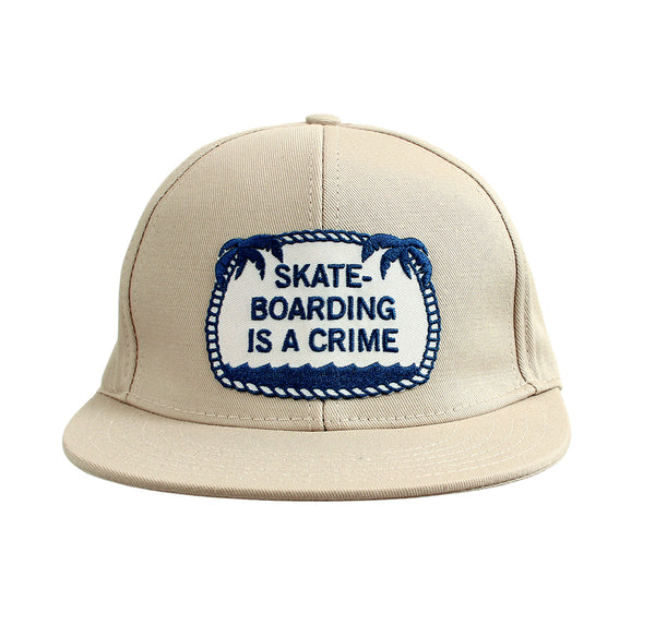 Skateboarding Is A Crime ballcap