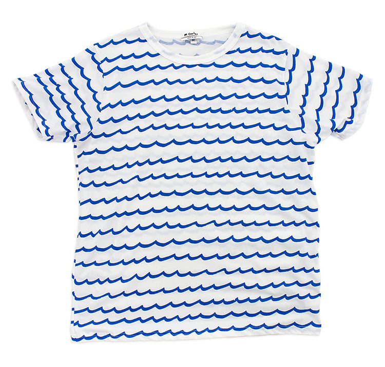 Wave Stripe Tee (White)
