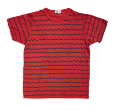 Wave Stripe Tee (Red)