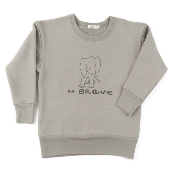 'be brave' pullover