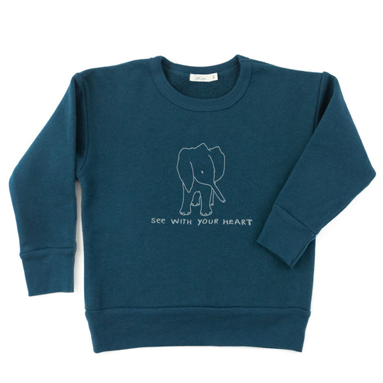 'see with your heart' pullover