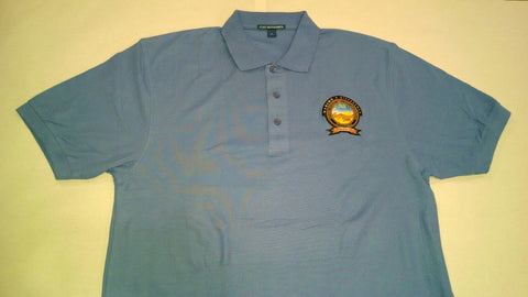 LIGHT BLUE POLO with Color Logo
