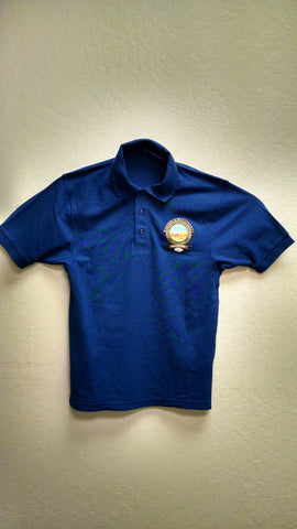 Royal Blue GA 2018 Polo Shirt with Color Logo