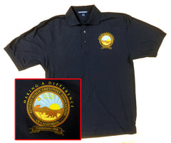 NAVY 2014 GA POLO SHIRT with Color Logo