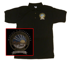 BLACK POLO SHIRT with Color Logo