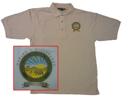 TAN POLO SHIRT with Color Logo