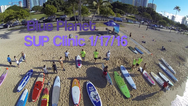 Ala Moana Beach Blue Planet SUP Clinic January 2016