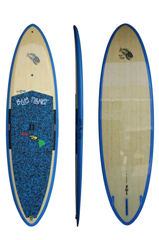 Blue Planet 11'0 x 34 Wave Guru SUP Bamboo Blue