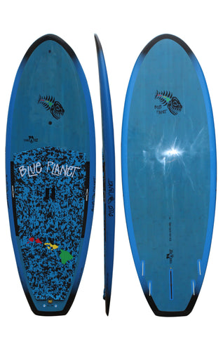 Blue Planet 8'0 x 31 Taro Chip Blue Tint SUP 2016