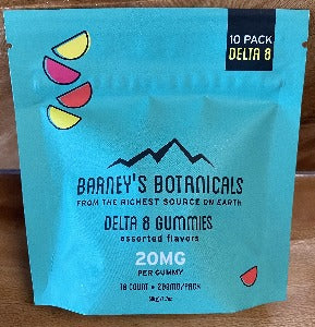 Barney's Botanicals Delta 8 Assorted Gummies 200mg 10ct