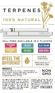 CBD Disposable Terpene 50MG Pen - Fresh Mint